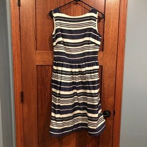 Lilly Pulitzer navy and white striped dress